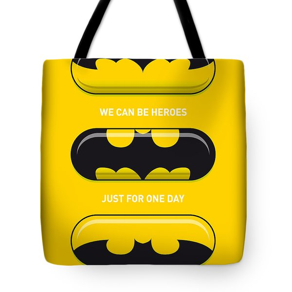 My Superhero Pills - Batman Tote Bag by Chungkong Art