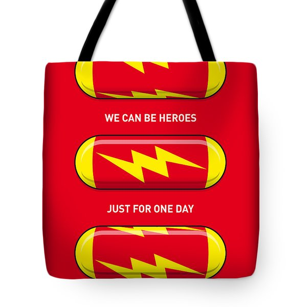 My Superhero Pills - The Flash Tote Bag by Chungkong Art