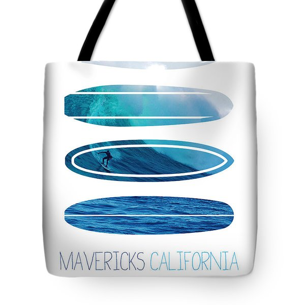 My Surfspots poster-2-Mavericks-California Tote Bag by Chungkong Art