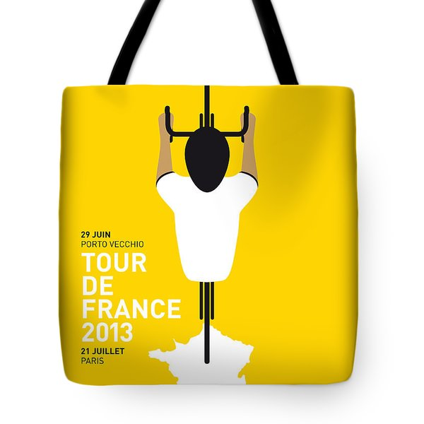 MY TOUR DE FRANCE MINIMAL POSTER Tote Bag by Chungkong Art