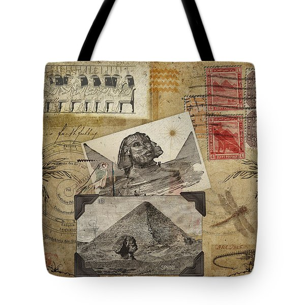 My Trip To Egypt 1914 Tote Bag by Carol Leigh
