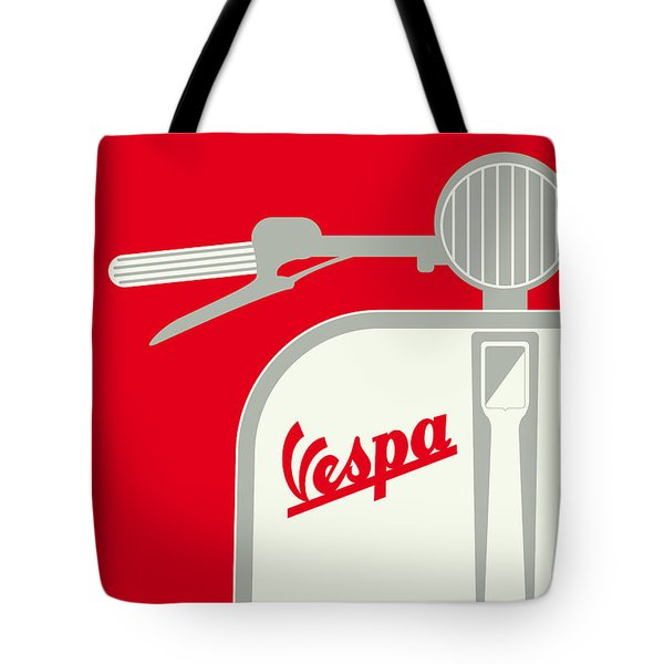 My Vespa - From Italy With Love - Red Tote Bag by Chungkong Art