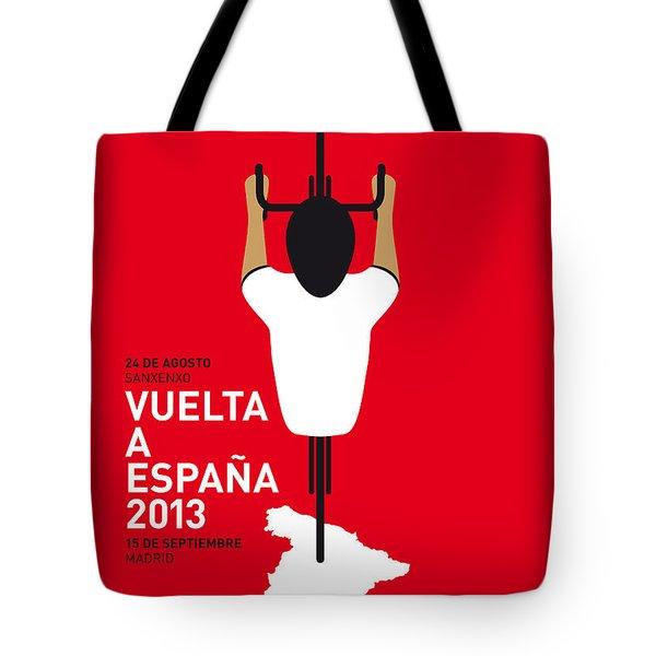 My Vuelta A Espana Minimal Poster - 2013 Tote Bag by Chungkong Art
