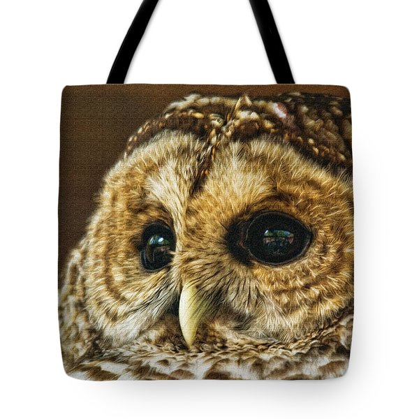 My What Big Eyes You Have Tote Bag by Lois Bryan