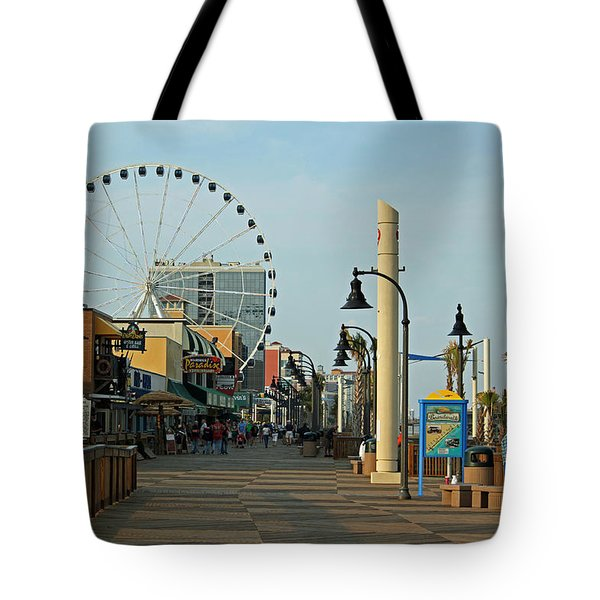 Myrtle Beach Boardwalk Tote Bag by Suzanne Gaff