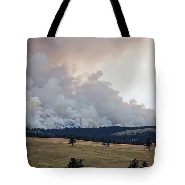 Tote Bag featuring the photograph Myrtle Fire West Of Wind Cave National Park by Bill Gabbert