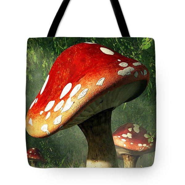 Mystic Mushroom Tote Bag by Daniel Eskridge