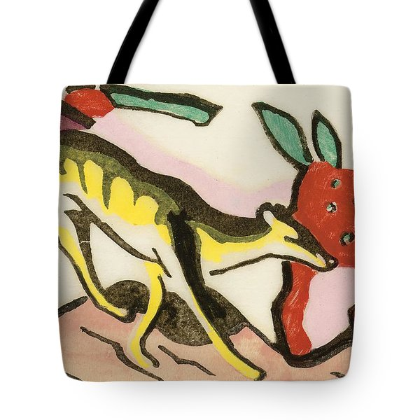 Mythical Animal  Tote Bag by Franz Marc