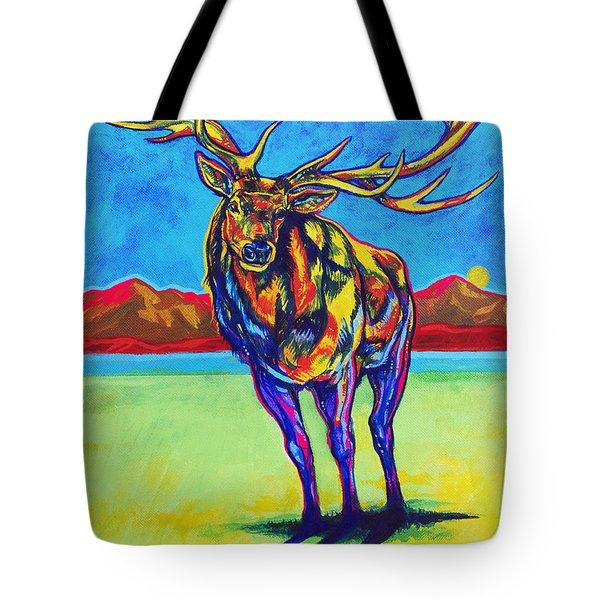 Mythical Elk Tote Bag by Derrick Higgins
