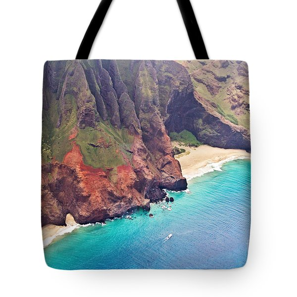 Na Pali Coast Tote Bag by Scott Pellegrin