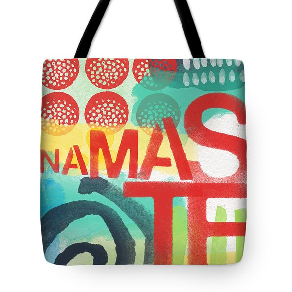 Namaste- Contemporary Abstract Art Tote Bag by Linda Woods