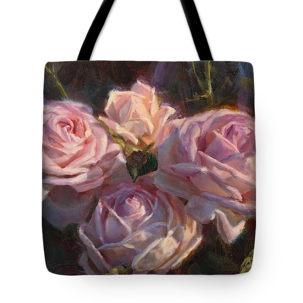 Nana's Roses Tote Bag by Karen Whitworth