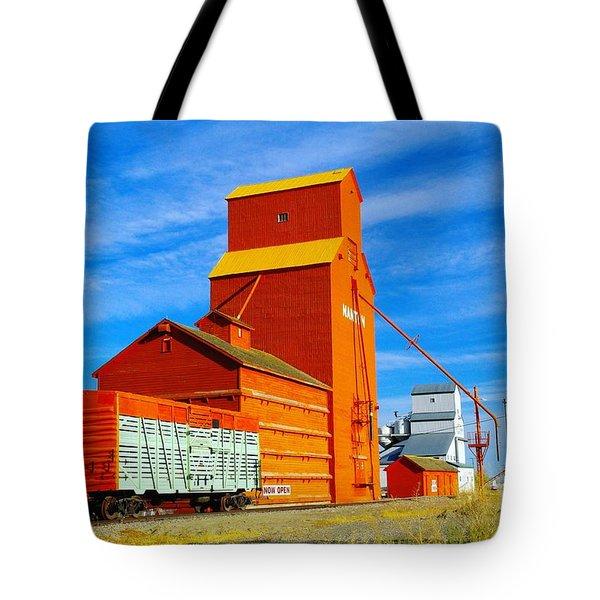 Nanton Grain Elevators  Tote Bag by Jeff Swan