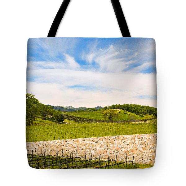 Napa Vineyard #2 Tote Bag by Mick Burkey