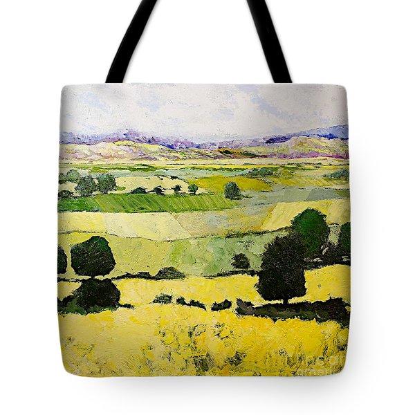 Napa Yellow2 Tote Bag by Allan P Friedlander