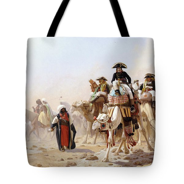 Napoleon And His General Staff Tote Bag by Jean Leon Gerome