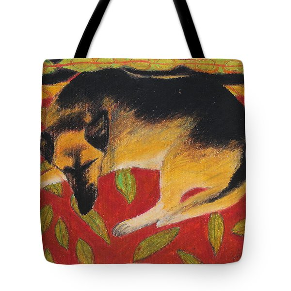 Napping Tote Bag by Jeanne Fischer