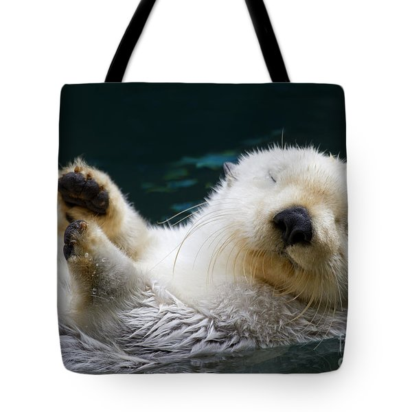 Napping On The Water Tote Bag by Mike  Dawson
