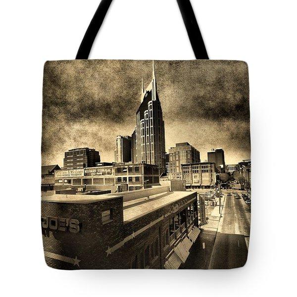 Nashville Grunge Tote Bag by Dan Sproul