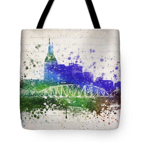 Nashville In Color Tote Bag by Aged Pixel