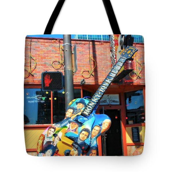 Nashville Legends Guitar Tote Bag by Dan Sproul