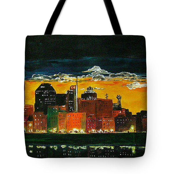 Nashville Night Tote Bag by Vickie Warner