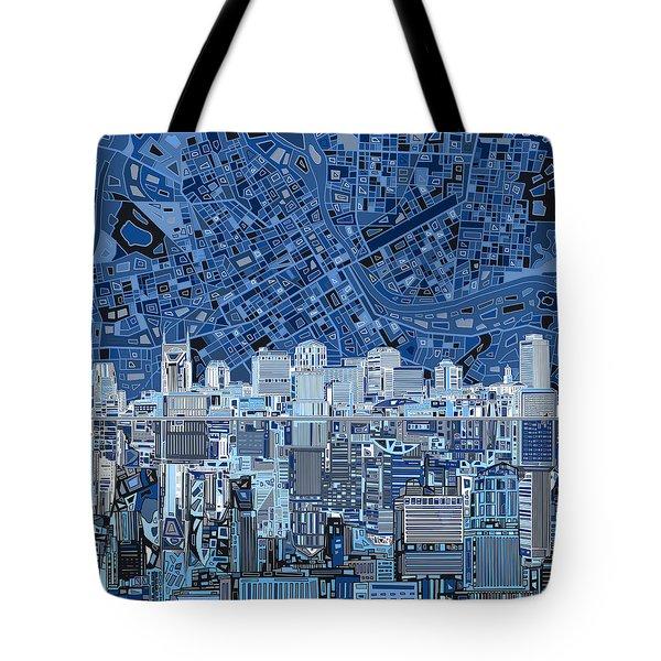 Nashville Skyline Abstract Tote Bag by Bekim Art