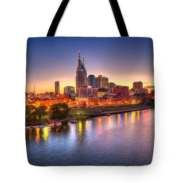 Nashville Skyline Tote Bag by Brett Engle