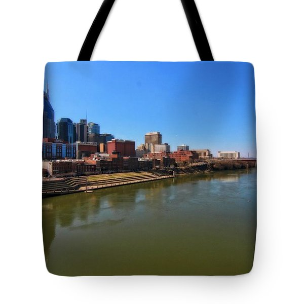 Nashville Skyline  Tote Bag by Dan Sproul