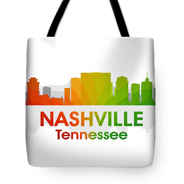 Nashville Tn Tote Bag by Angelina Vick