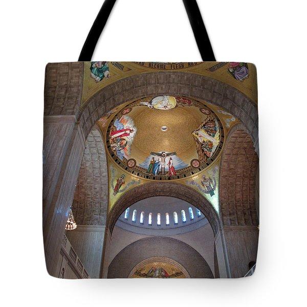 National Shrine Interior Tote Bag by Barbara McDevitt