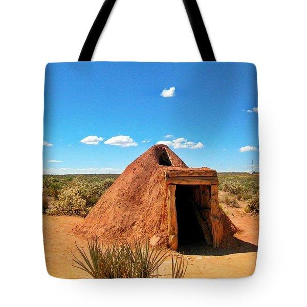 Native American Earth Lodge Tote Bag by John Malone