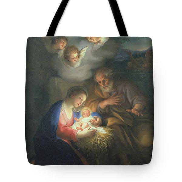 Nativity Scene Tote Bag by Anton Raphael Mengs