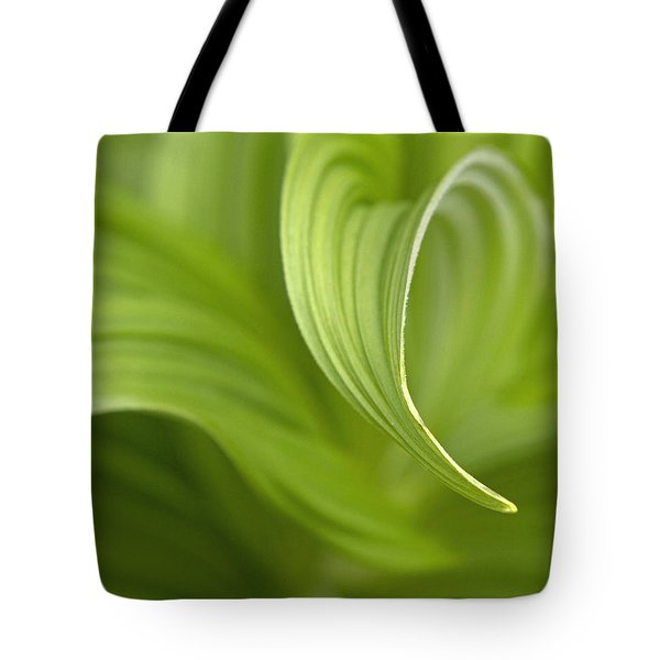 Natural Green Curves Tote Bag by Claudio Bacinello