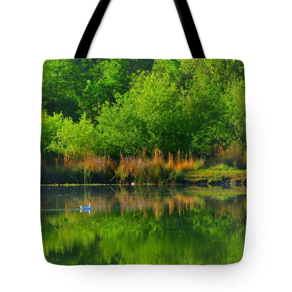 Naturally Reflected Tote Bag by Joyce Dickens