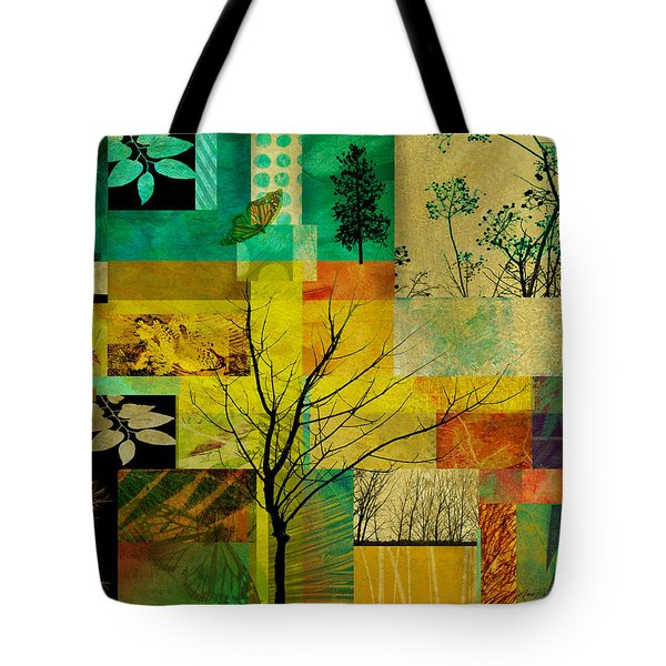 Nature Patchwork Tote Bag by Ann Powell
