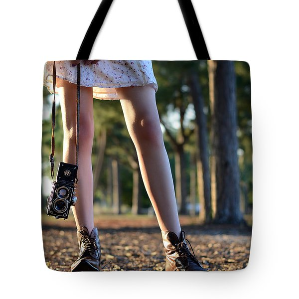 nature walk Tote Bag by Laura  Fasulo