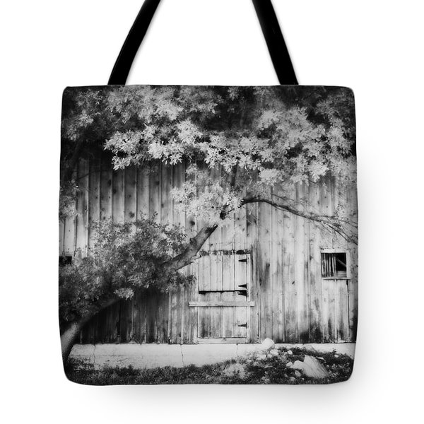 Natures Awning Bw Tote Bag by Julie Hamilton