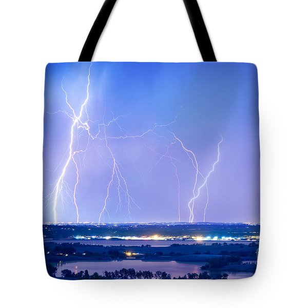 Natures Light Show Over The Boulder Reservoir  Tote Bag by James BO  Insogna