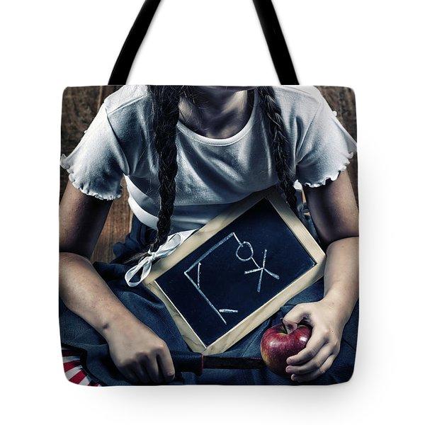 Naughty School Girl Tote Bag by Joana Kruse