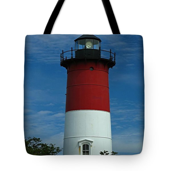 Nauset Beach Lighthouse Tote Bag by Juergen Roth