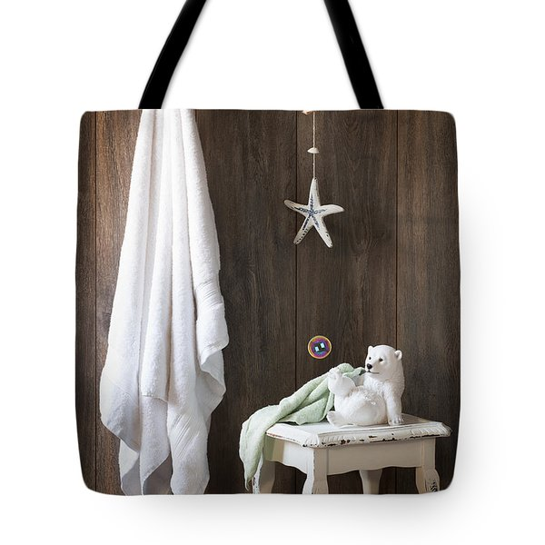 Nautical Bathroom Tote Bag by Amanda And Christopher Elwell