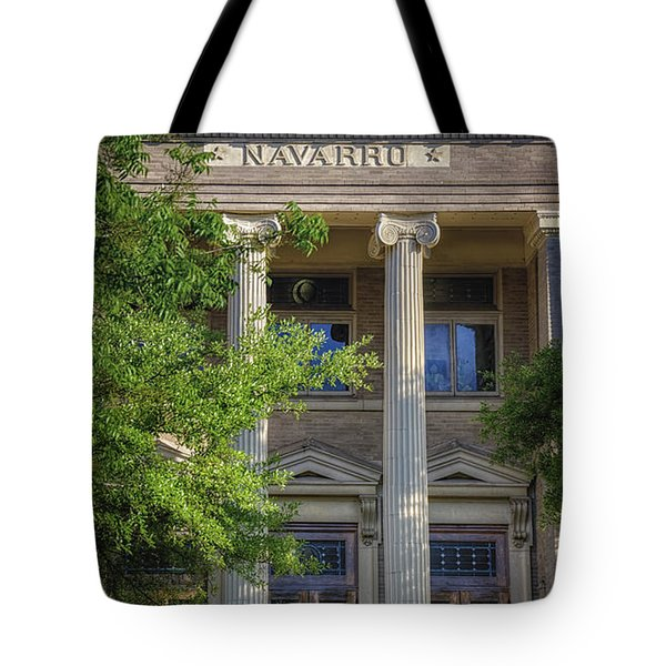 Navarro County Courthouse Tote Bag by Joan Carroll