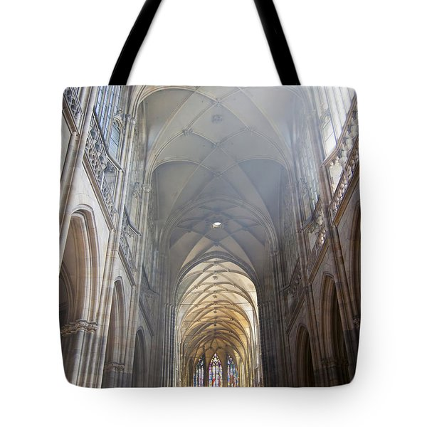 Nave Of The Cathedral Tote Bag by Michal Boubin