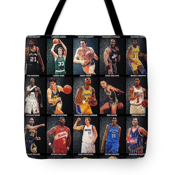 Nba Legends Tote Bag by Taylan Soyturk