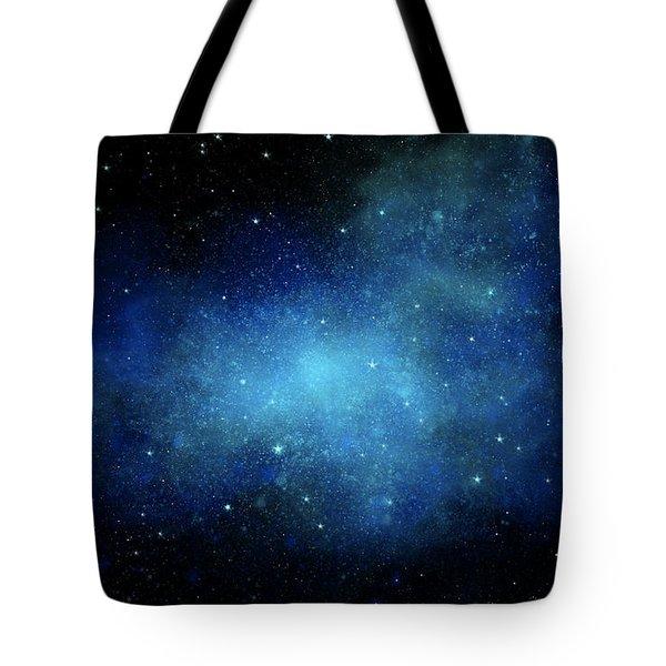 Nebula Mural Tote Bag by Frank Wilson