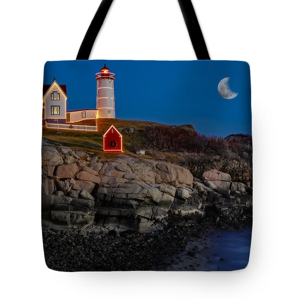 Neddick Lighthouse Tote Bag by Susan Candelario