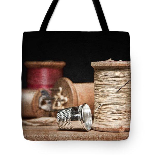Needle And Thread Tote Bag by Tom Mc Nemar