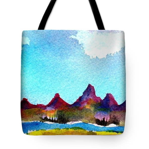 Needles Mountains Tote Bag by Anne Duke