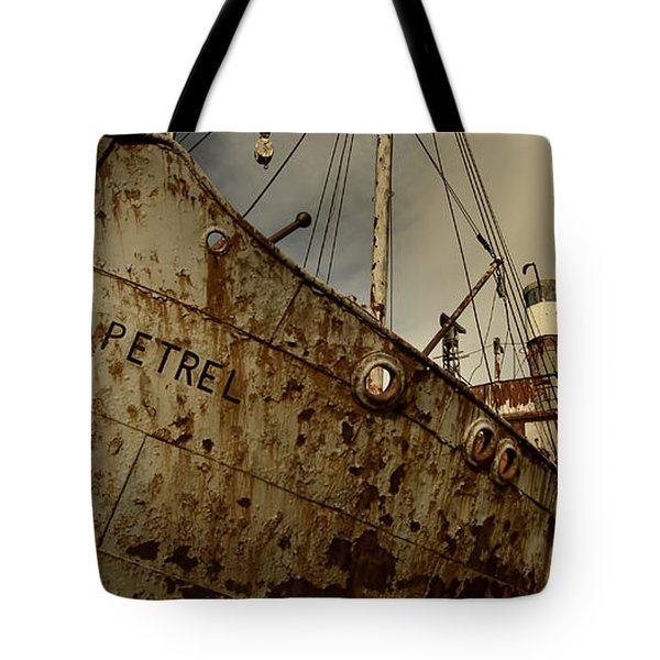 Neglected Whaling Boat Tote Bag by Amanda Stadther